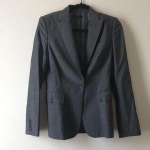 Hugo Boss Blazer Wool Gray Striped Size 6